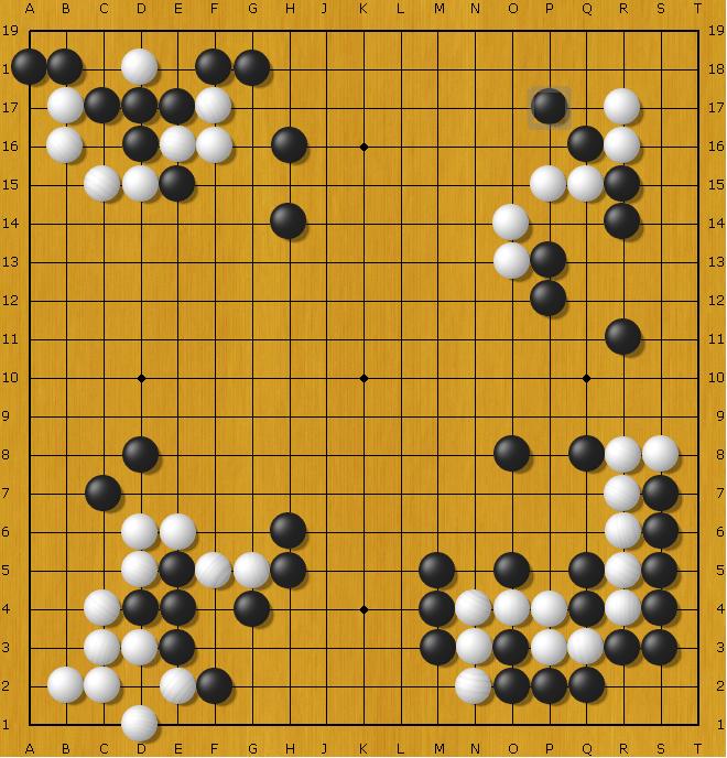 Blancas mueven en las 4 posiciones